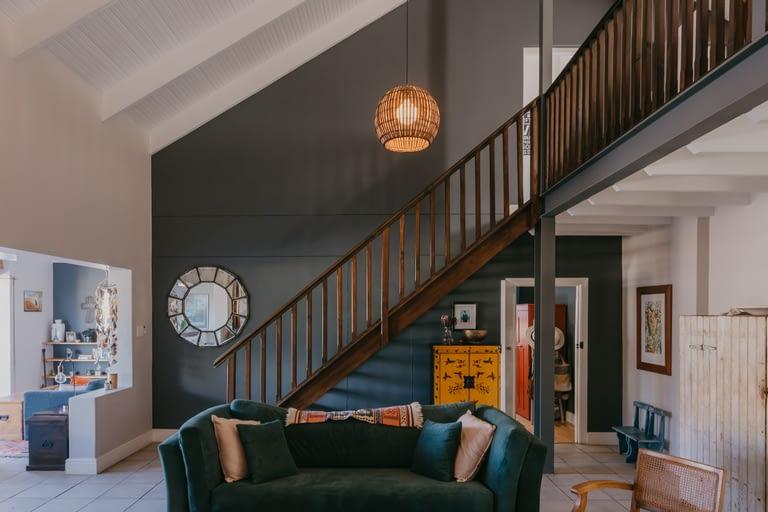 stairs to pyjama lounge