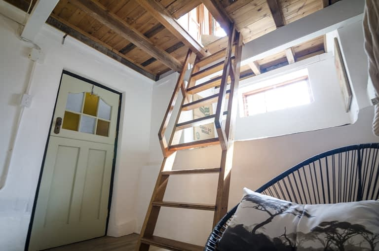 Ladder access from 1st floor to ground floor.