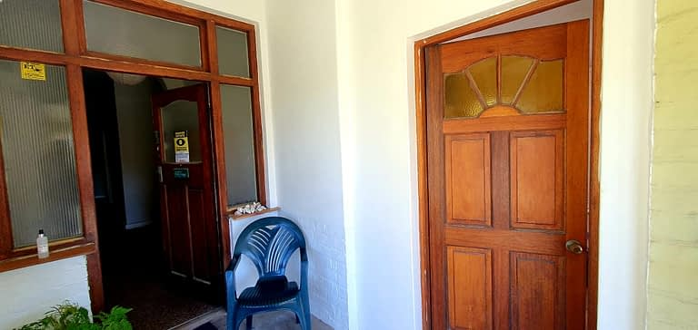 The sep flatlet has its own private entrance to the left of the main front door.